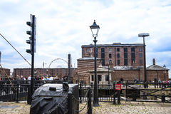 The Albert Dock in Liverpool in Merseyside in England Stock Photo