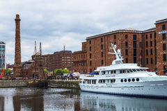 The Albert Dock in Liverpool in Merseyside in England Royalty Free Stock Photography