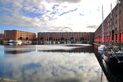 albert dock liverpool uk Royaltyfri Foto