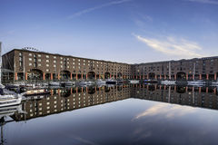 Albert Dock on Liverpool waterfront. The redeveloped waterfront of Liverpool Albert Dock Royalty Free Stock Photos