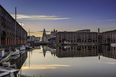 Albert Dock on Liverpools waterfront Stock Image