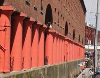 Albert-Dock-Säulengang stockfoto