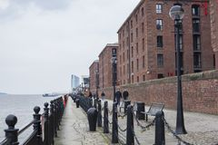 Albert Dock-` s Ufergegend stockbild