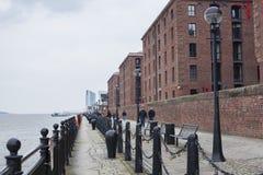 Albert Dock`s waterfront stock image