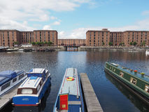 Albert Dock and Salthouse dock in Liverpool. LIVERPOOL, UK - CIRCA JUNE 2016: The Albert Dock  and Salthouse Dock Royalty Free Stock Images