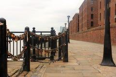 Albert Dock, strand, i Liverpool i UK arkivfoto
