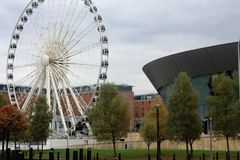 Albert Dock, strand, i Liverpool i UK Royaltyfria Bilder