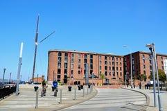 Albert Dock Waterfront, Liverpool lizenzfreie stockbilder