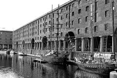 Albert Docks Royaltyfri Fotografi