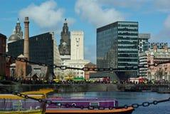 Albert Docks Stock Photo