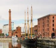 Albert Docks & Merseyside Maritime Museum. Albert Docks & Merseyside Maritime Museum - Liverpool . UK Stock Photography