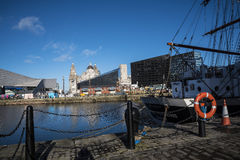 Albert dok jest kompleksem doków magazyny w Liverpool i budynki, Anglia Obraz Royalty Free