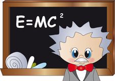 Albert einstein. Illustration of Albert Einstein Cartoon vector illustration