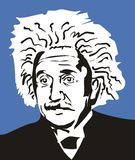 Albert Einstein. Famous scientist and author of the theory of relativity royalty free illustration