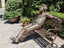 Albert Einstein in Arizona. Share a bench with Albert Einstein stock photography