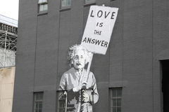 Albert Einstein, arte de la calle, New York City Foto de archivo