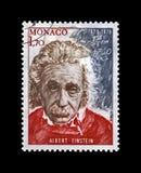 Albert Einstein berömd forskare, fysiker, Nobel prisvinnare, matematiklikställande, Monaco, circa 1979 , arkivbild