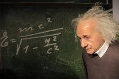 Albert Einstein. In the dutch madame tussauds. Taken on 30-12-2014 stock images
