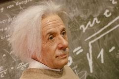 Albert einstein. In the famous wax museum Madame tussauds london, england stock photography