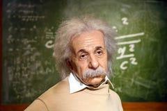 Albert Einstein Figurine At Madame Tussauds vaxmuseum fotografering för bildbyråer