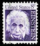 Albert Einstein 1879-1955, fisico, serie famoso degli Americani, circa 1966 immagini stock libere da diritti