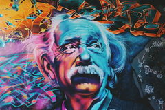 Albert Einstein Illustration Royalty Free Stock Photography