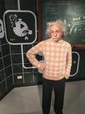 Albert Einstein im Wachs Stockfotos