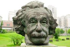 Albert Einstein. A large sculpture of Albert Einstein in Red Town area of Shanghai China stock image
