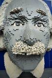 Albert Einstein legomodell på Legoland Royaltyfri Foto