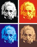Albert Einstein - min original- karikatyr stock illustrationer