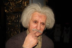 Albert Einstein at the Musée Grevin Royalty Free Stock Images
