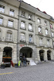 The Albert Einstein Museum in city of Bern. Bern, Switzerland - April 17, 2017: The townhouse at Kramgasse street is now the Albert Einstein Museum. In the Stock Photography