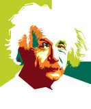Albert Einstein_popart Stock Photo