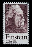 Albert Einstein portostämpel Fotografering för Bildbyråer