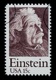Albert Einstein Postage Stamp. UNITED STATES AMERICA - CIRCA 1960: A postage stamp printed in the USA showing Albert Einstein, circa 1960 royalty free illustration