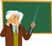 Albert Einstein robi prezentaci Obraz Royalty Free
