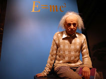 Albert Einstein statywax arkivfoton