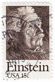 Albert Einstein stämpel Royaltyfri Bild