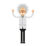 Albert Einstein symbol stock illustrationer