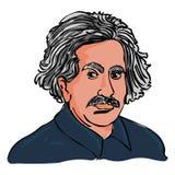 Albert Einstein-vector De tekening van het Einsteinportret royalty-vrije illustratie