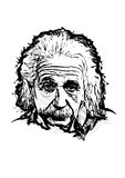 Albert einstein. Vector illustration on white vector illustration