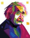 Albert Einstein w wystrzał sztuki portreta ilustraci Zdjęcia Royalty Free