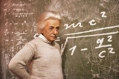 Albert Einstein. Wax figure in Madame Tussauds museum royalty free stock photography