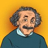 Albert Einstein, wetenschapper, fysicus Science en onderwijs royalty-vrije illustratie