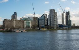 Albert Embankment à Londres, Angleterre photo libre de droits