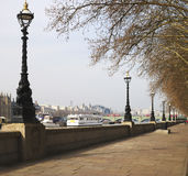 Albert Embankment. Londen. het UK Royalty-vrije Stock Afbeeldingen