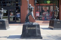 Albert Fred Schoendienst Statue, St Louis du centre photo stock