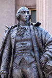 Albert Gallatin Statue USA finansdepartementetWashington DC royaltyfria foton
