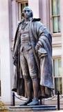 Albert Gallatin Statue USA finansdepartementetWashington DC Royaltyfri Bild