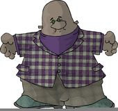 Albert gordo ilustración del vector